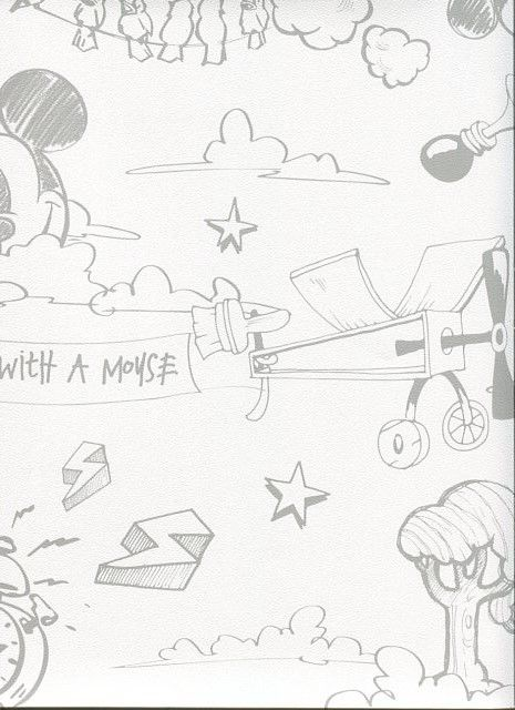 Carta da parati bambini camerette walt disney design for Carta parati disney