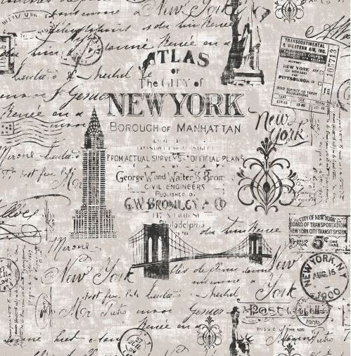 Parati vintage fango e nero teenager tema citta 39 new york for Carta da parati vintage