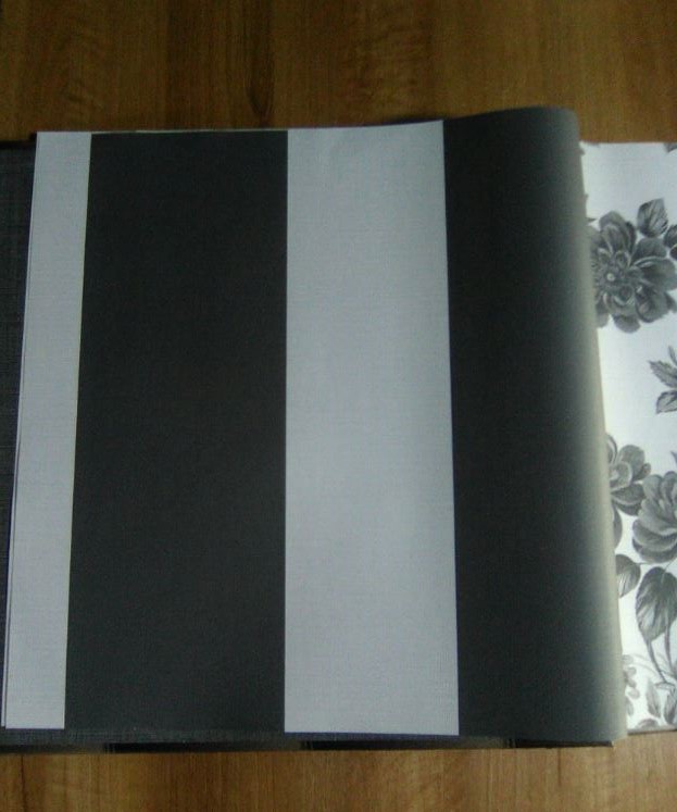 Carta da parati righe larghe grigio ed antracite in carta tipo tessuto italian wallpaper lovely home 4033..