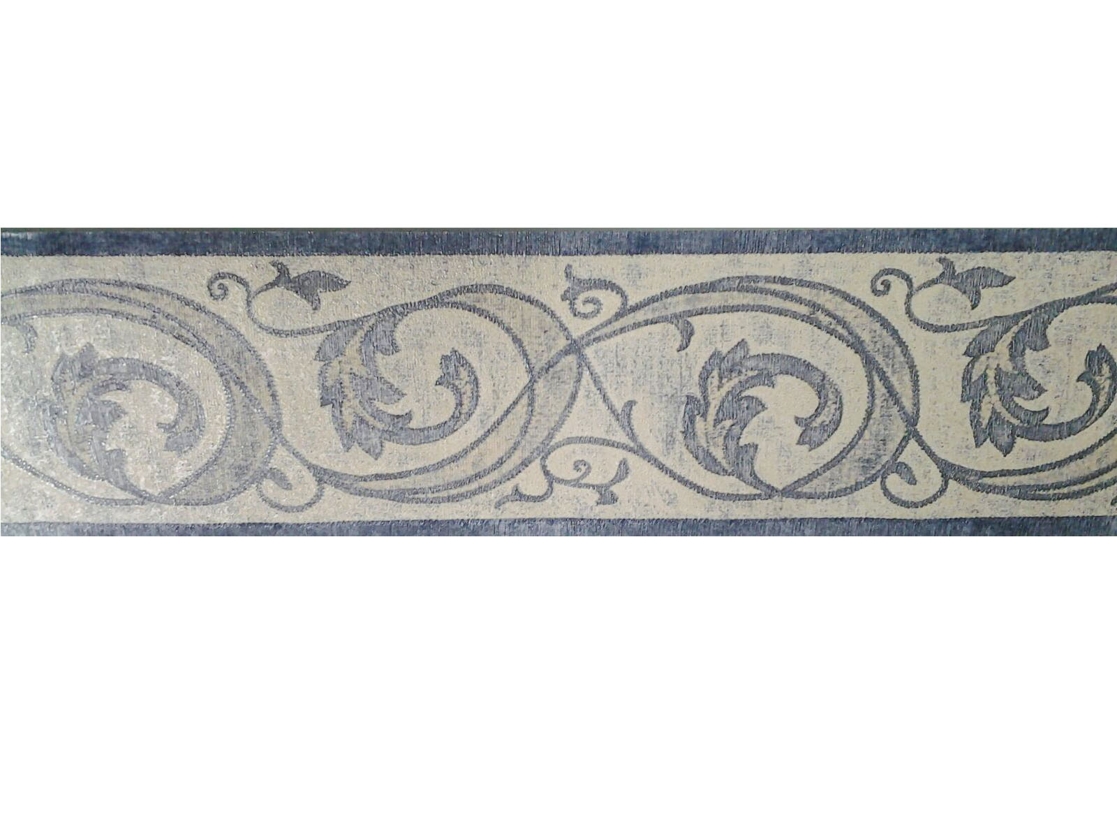Fascia parato beige e blu per pareti in vinilico altamente for Carte decorative per pareti