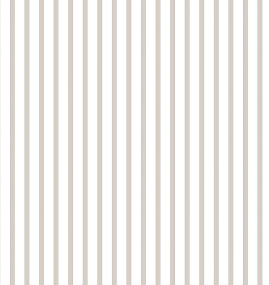 Parato tortora e bianco righe strette shabby chic in vinilico lavabile G67537 Smart Stripes 2..