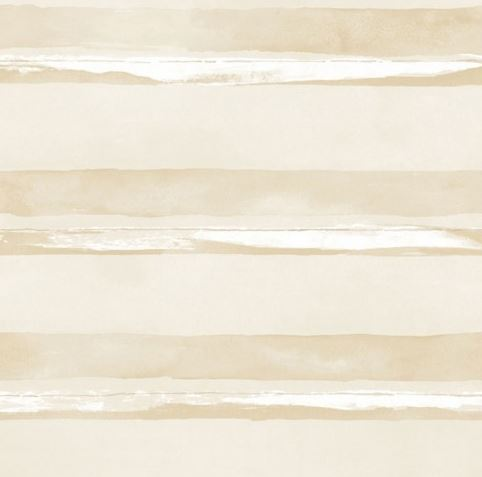 Parato effetto acquerello strisce orizzontali beige in vinilico lavabile design contemporaneo G67588 Smart Stripes 2..