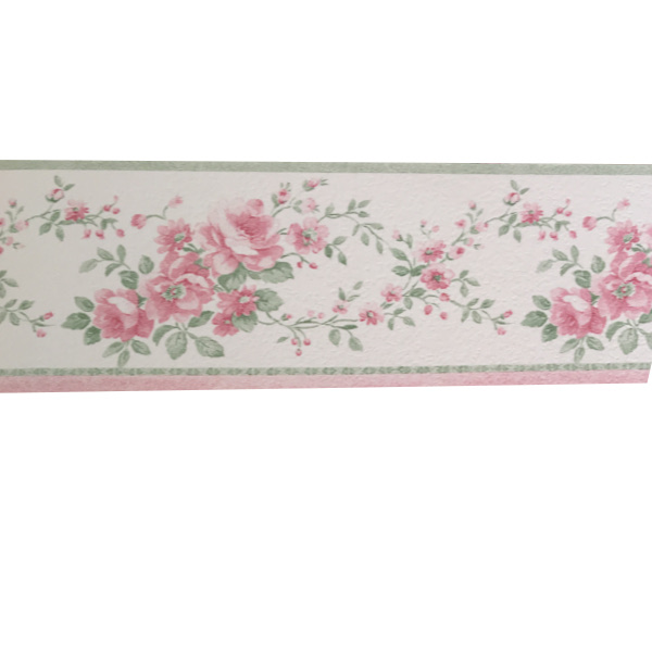 Bordo greca per cameretta country shabby floreale bouquet for Bordi carta da parati