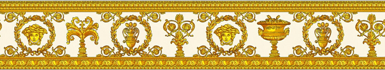 Versace 3 greek wall borders jellyfish griffe luxury home collection in embossed vinyl 34305-2..