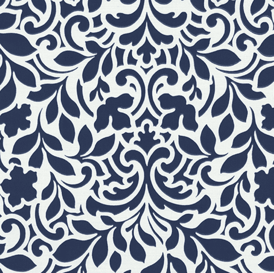 Wallpaper with blue leaves on a pearly white background three-dimensional effect Tesori Italiani 45011.