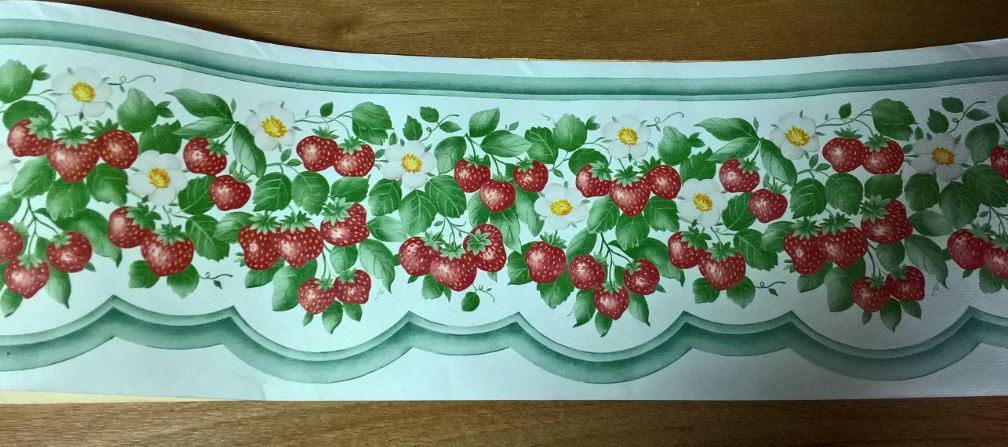 Bordi in carta da parati per cucina shabby country provenzale in ...
