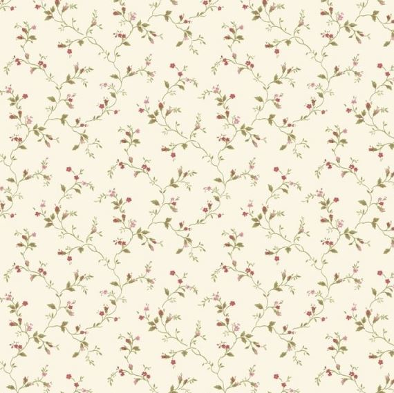 Rotolo di parato country shabby chic fiorelli colorati for Carta da parati verde