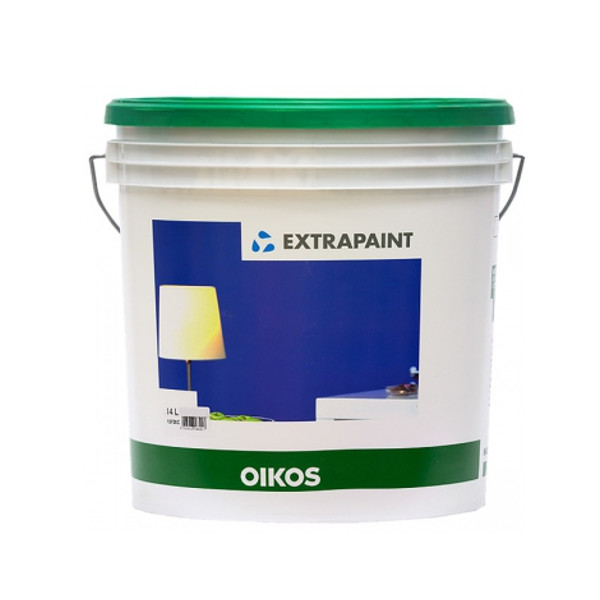 OIKOS EXTRAPAINT BIANCO, PITTURA ALL'ACQUA OPACA SUPER COPRENTE COLORABILE PER INTERNI ED ESTERNI DA LT. 4.